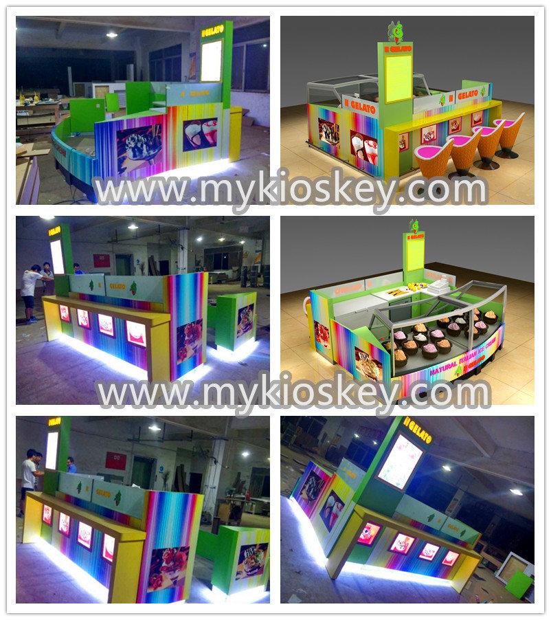 Unique Design Shopping Mall Ice Cream Kiosk For Sale