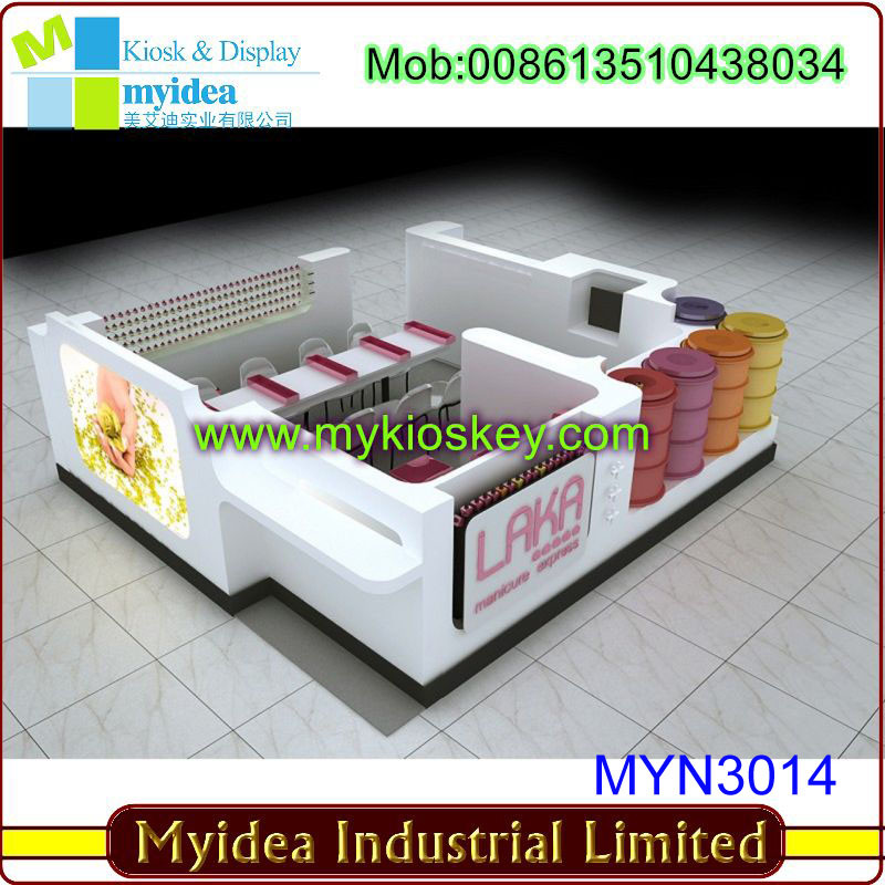 nail kiosk plan in suitable layout