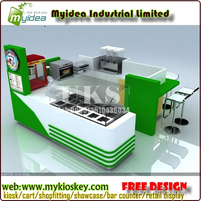 Both indoor and outdoor use unique design ice cream kiosk for Exterior kiosk design