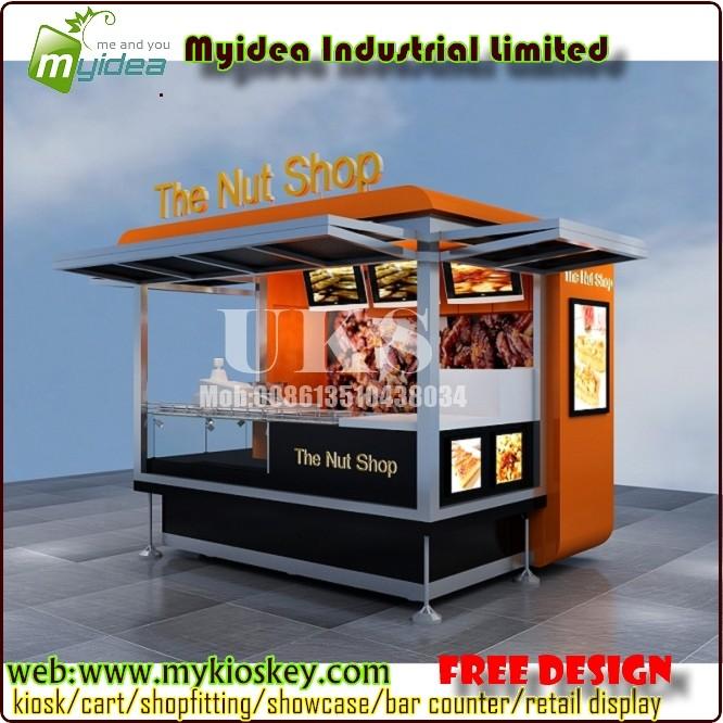 Outdoor Food Kiosk Fast Design For Sale