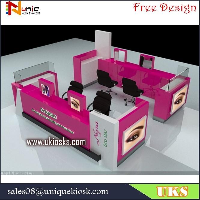 Eyebrow Kiosk Eyebrow Salon Furniture In Mall For Sale