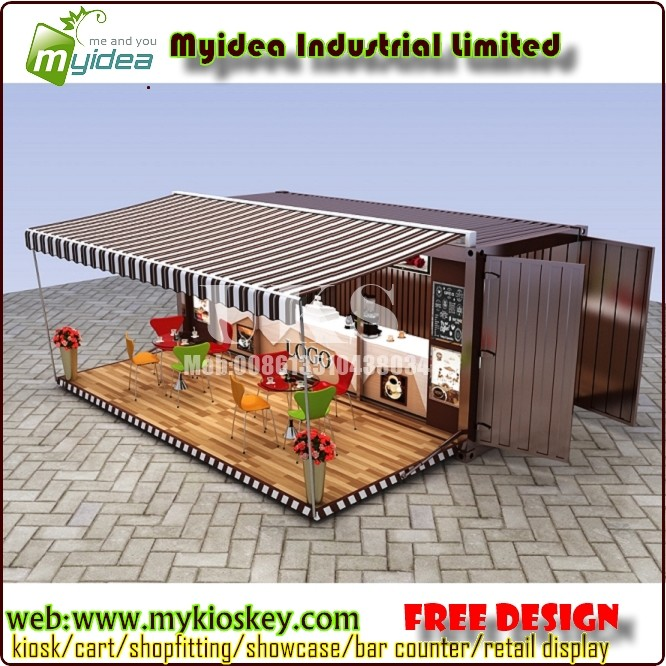 20 Feet Container Shop Design coffee For Sale