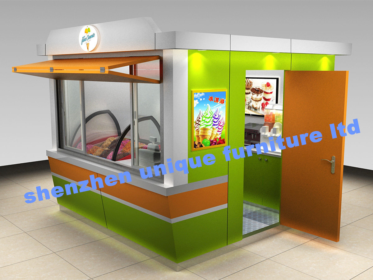 Outdoor ice cream kiosk is coming 3 by 3 meters mall for Garden kiosk designs
