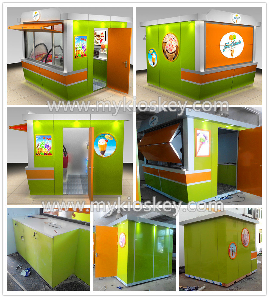 Ice Cream Kiosk Design For Outdoor Used To Usa