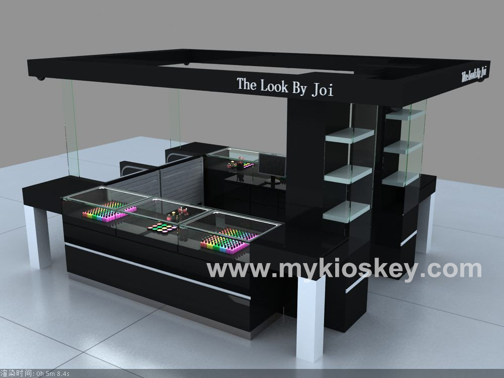 Customized 4m by 4m cosmetic kiosk design for shopping mall for Architecture kiosk design
