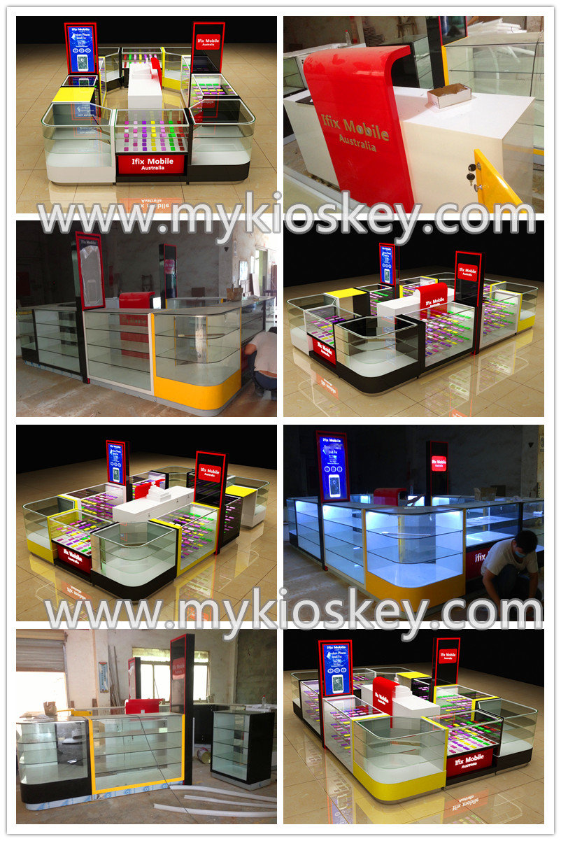Cosmetic Kiosk Design For Cosmetics And Makeup Stands