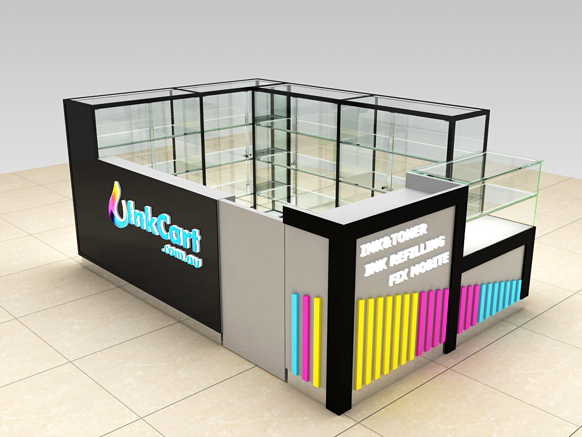 Mobile phone kiosk design for shopping mall mall kiosks for Architecture kiosk design