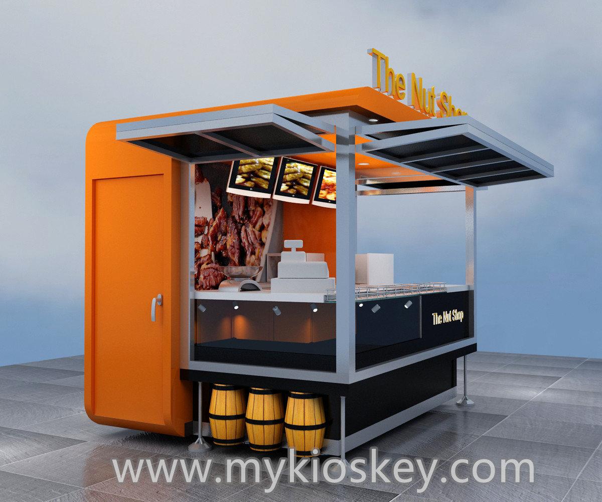 Custom outdoor kiosk fast food nuts kiosk for sale for Garden kiosk designs