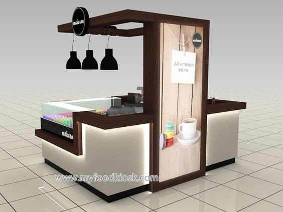 Newest 3d Max Design For Ice Cream Kiosk In Mall