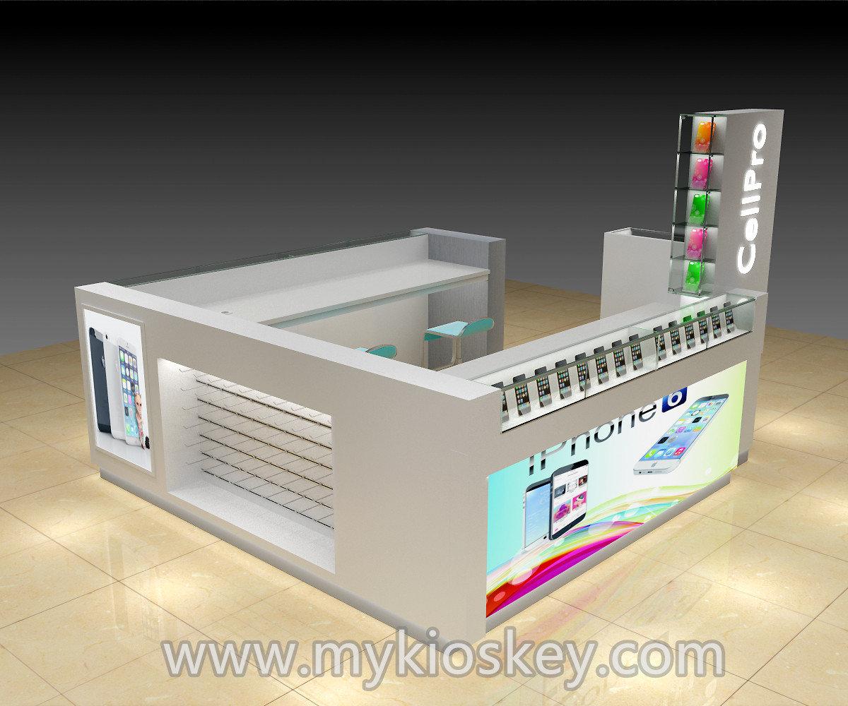 Customized cell phone kiosk for mobile phone shop design for Mobili kios