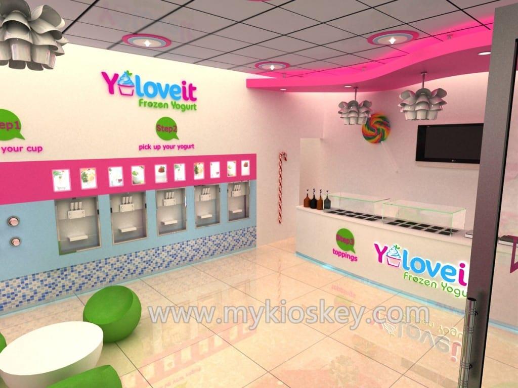 frozen yogurt shop
