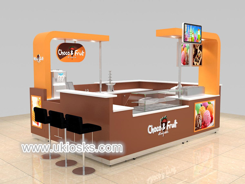 quickly fast food kiosk design for shopping mall used