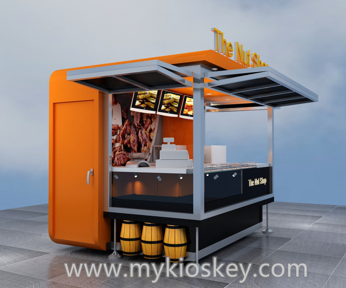 Factory design outdoor mobile fast food kiosk for sale for Mobili kios