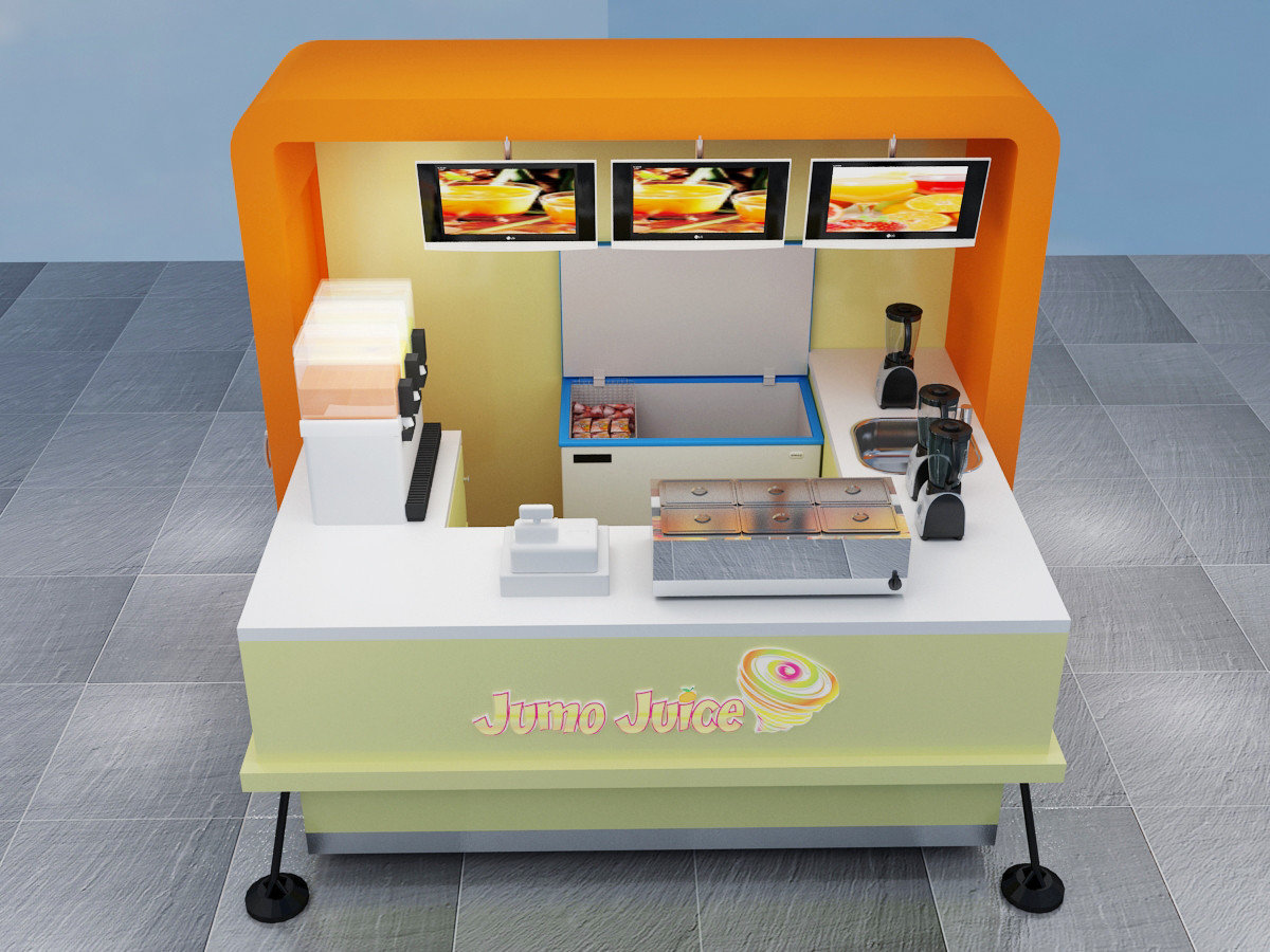 Factory customize outdoor mobile juice kiosk for sale for Mobili kios