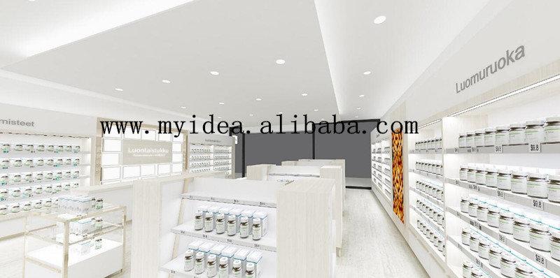 European style retail pharmacy shop interior design buy for Interior design order online