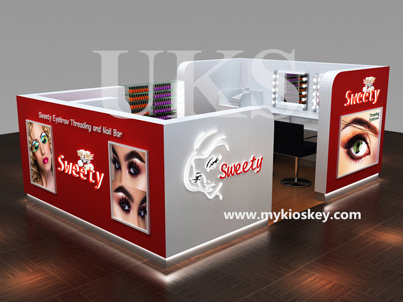 eyebrow bar kiosk