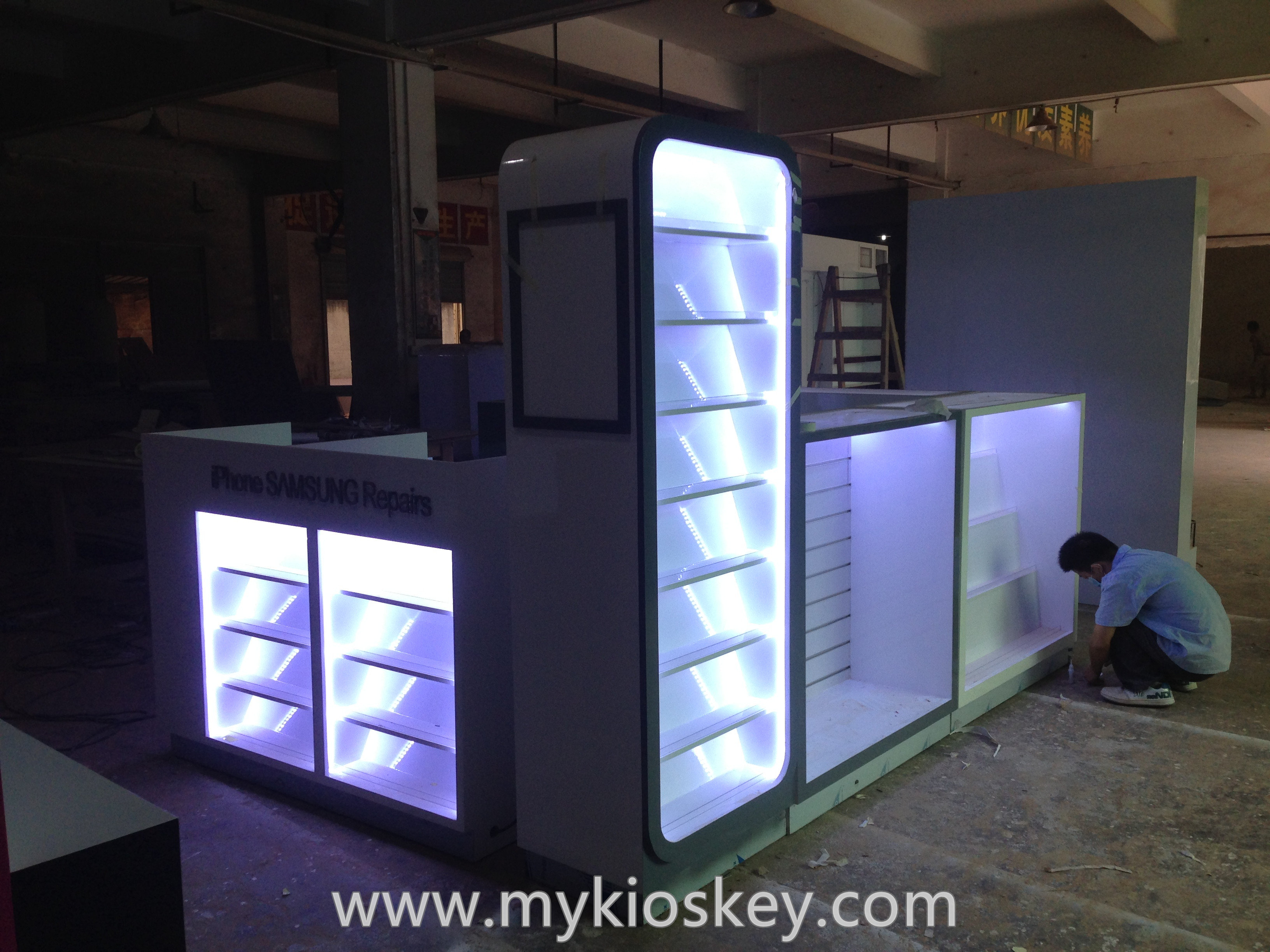 Exhibition Stand For Sale : Newest phone accessories kiosk repair