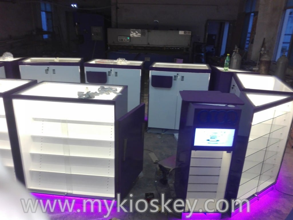 Customized design store display furniture mobile phone for Mobile furniture