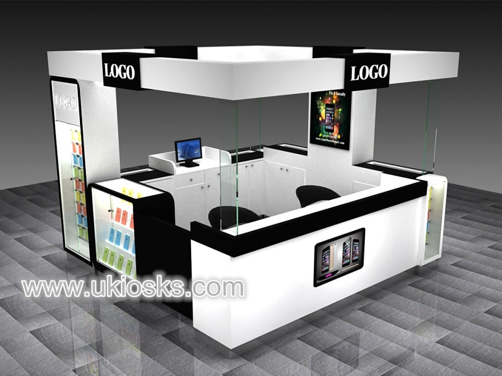 Modern Mobile Shop Counter Design Cell Phone Display