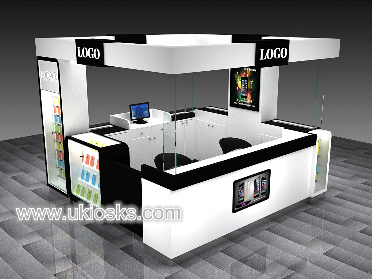 Mobile phone repair kiosk cell phone accessories kiosk for Mobili kios