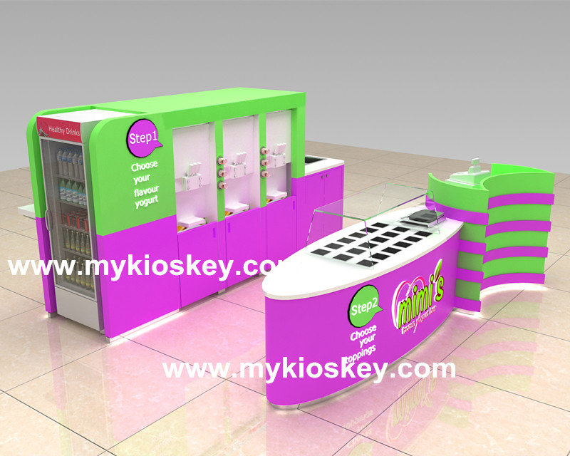 self service frozen yogurt kiosk