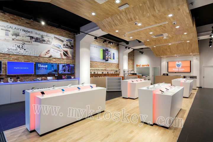 Top End Mobile Phone Shop Furniture With Display Counter For Sale