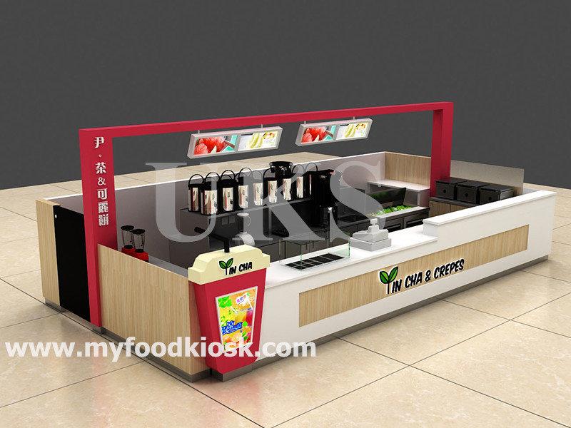 mall bubble tea kiosk