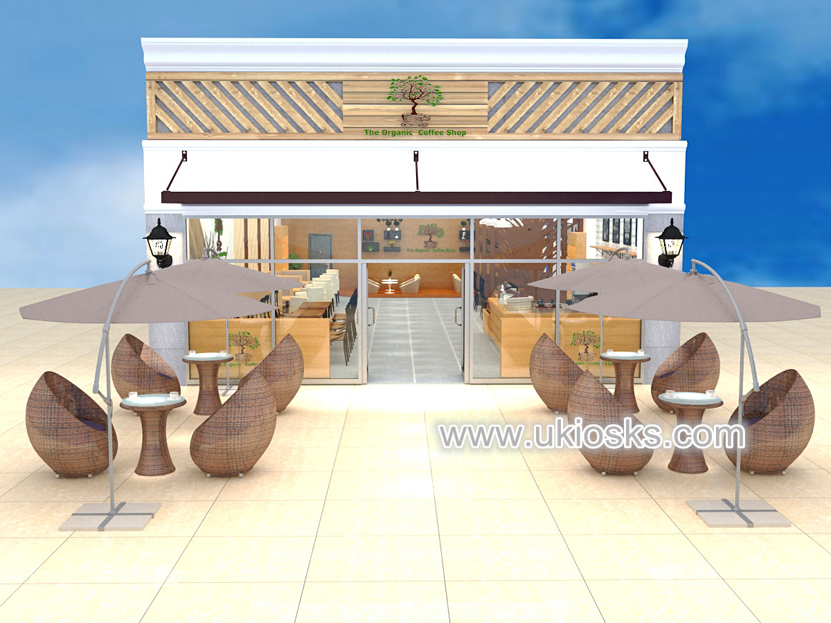Elegant Food Counter Wood Coffee Shop Furniture