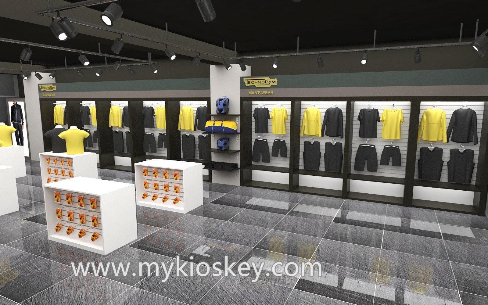 sports stores fixtures display