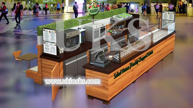 Retro Salad Bar Counter And Salad Kiosk Design For Sale
