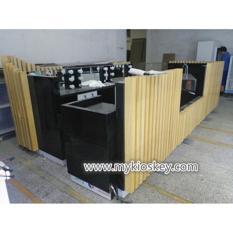 Solid Wood Decoration Brow Bar Furniture For Australia Mall Kiosks Food Carts Display Showcase