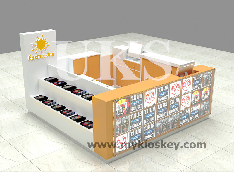 Attractive 3d print t shirt kiosk t shirt display for T shirt printing fairlane mall