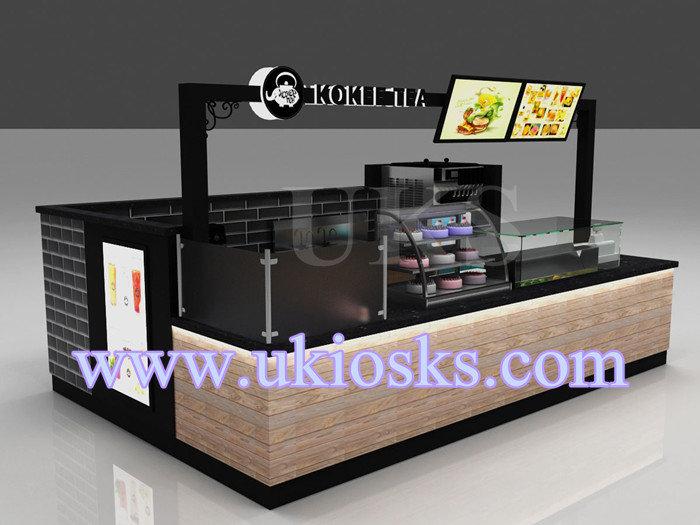 Indoor juice smoothie kiosk design with juice bar counter for Indoor food kiosk design