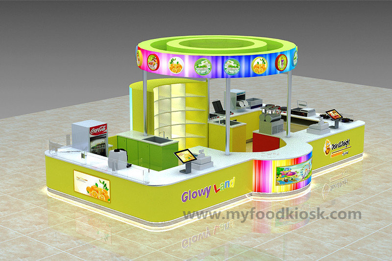 fresh fruit juice vending booth