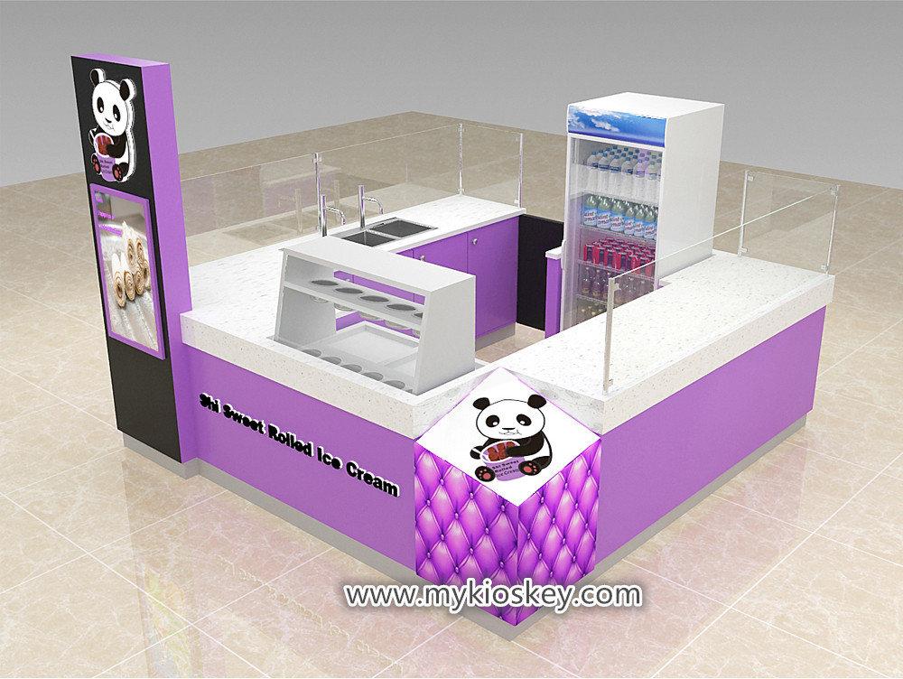 ice roll cream kiosk