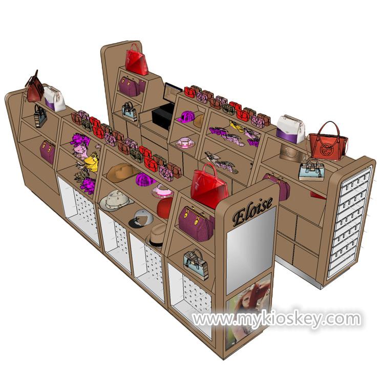 Retail Store Design Job Description: Wooden Handbag Display Stand Retail Handbag Display Shelf