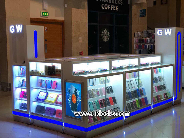 mall kiosk for cell phone showcase display