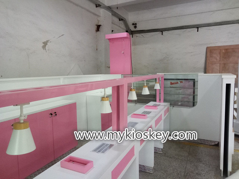 Indoor waffle crepe kiosk used in shopping mall fast food for Indoor food kiosk design