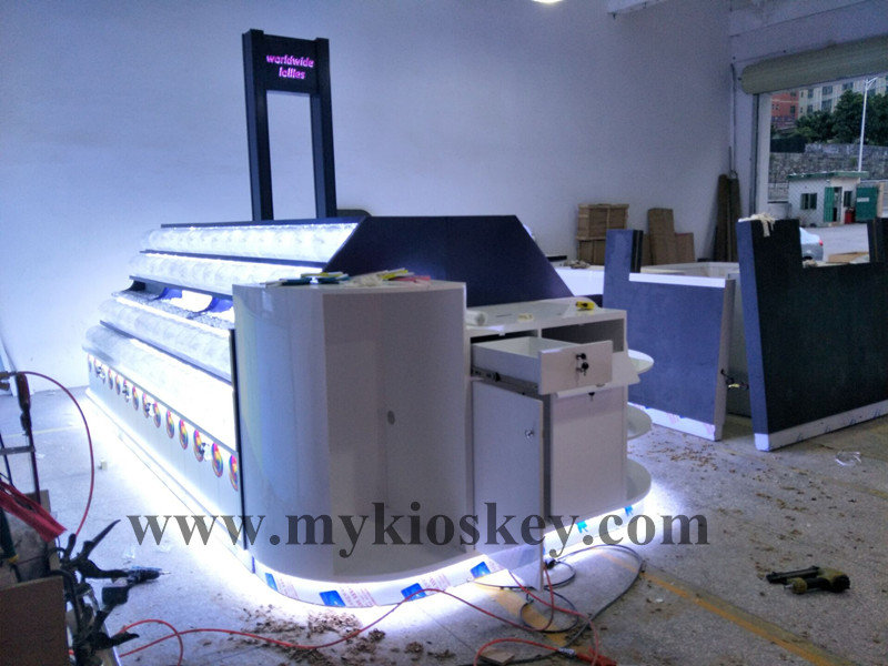 Exhibition Stand Designs For Sale : Customized sweet candy display kiosk stand