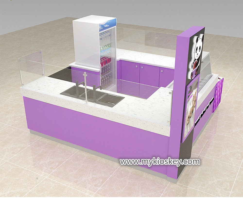 ice roll cream kiosk