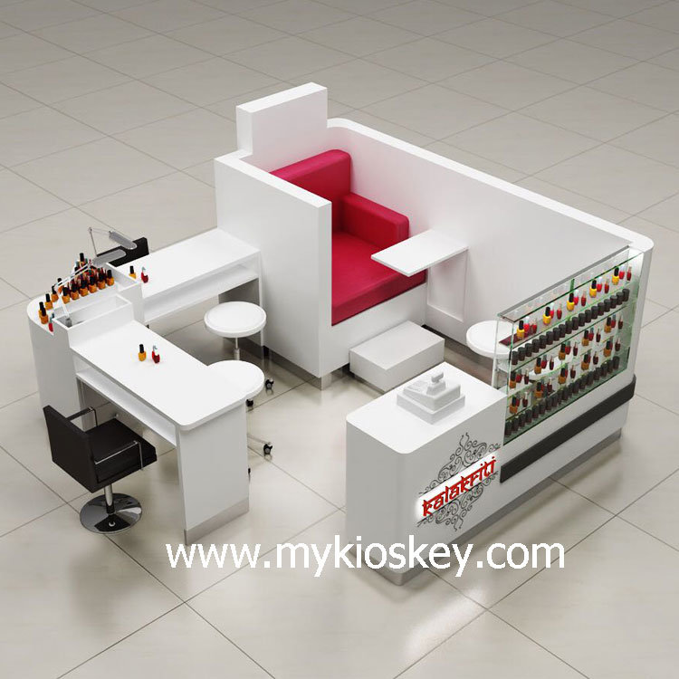 elegant nail bar kiosk for manicure/manicure table for nail polish kiosk