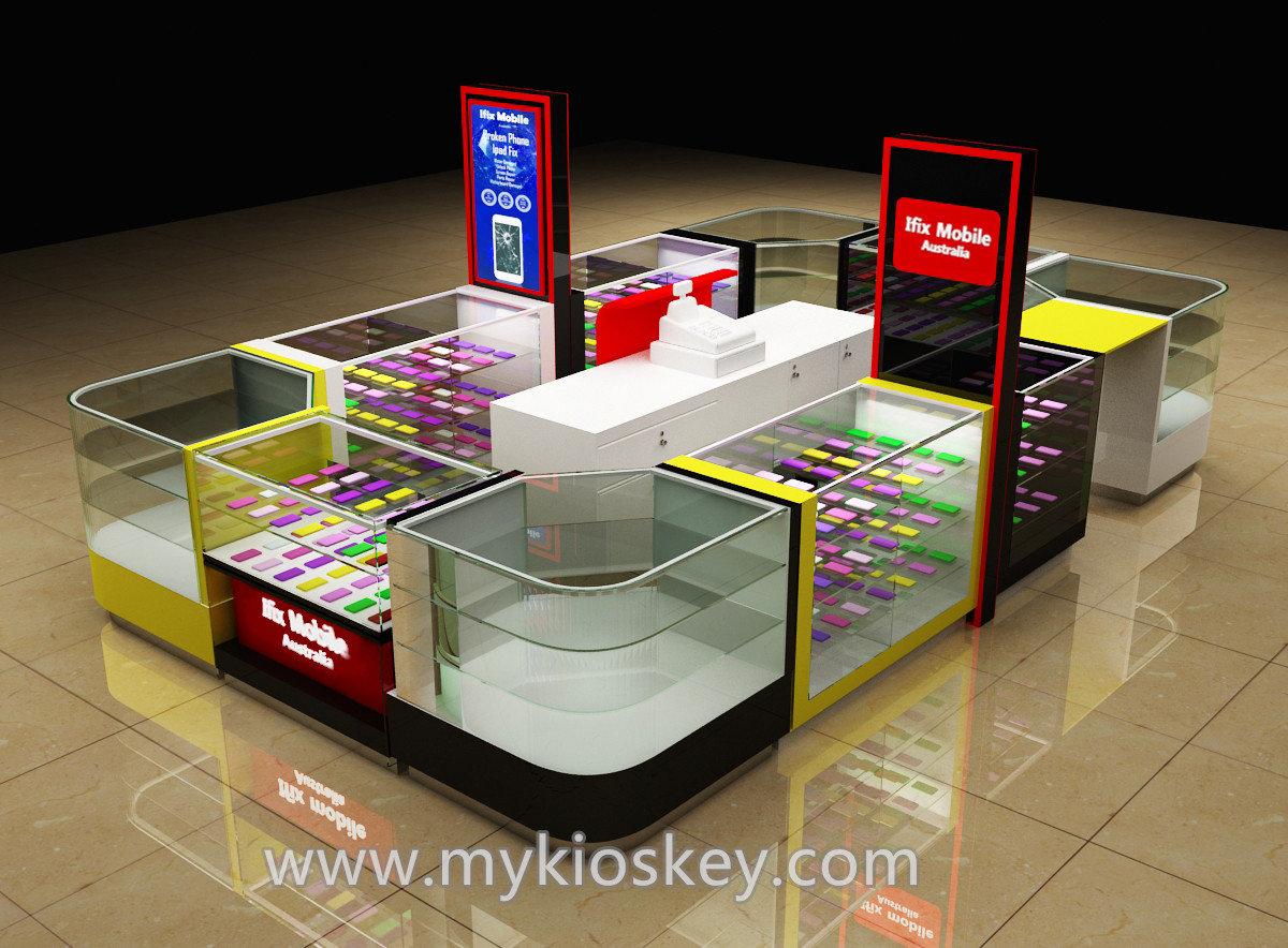Popular mobile phone cases kiosk phone repair kiosk design for Mobili kios