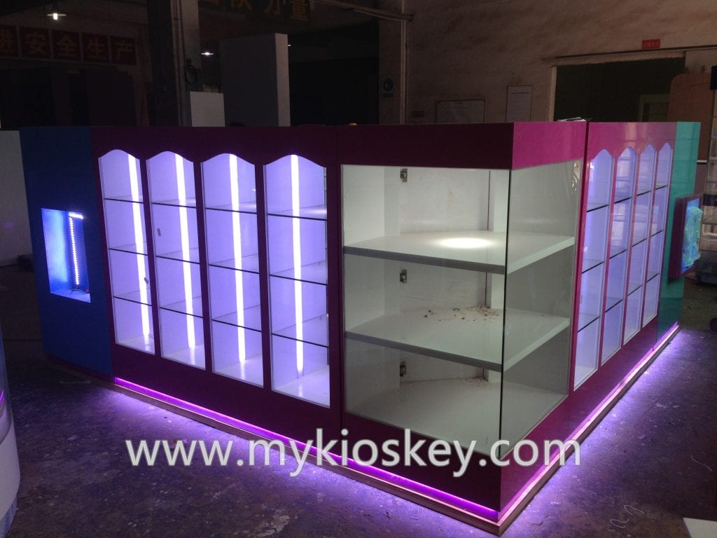 cosmetic display kiosk