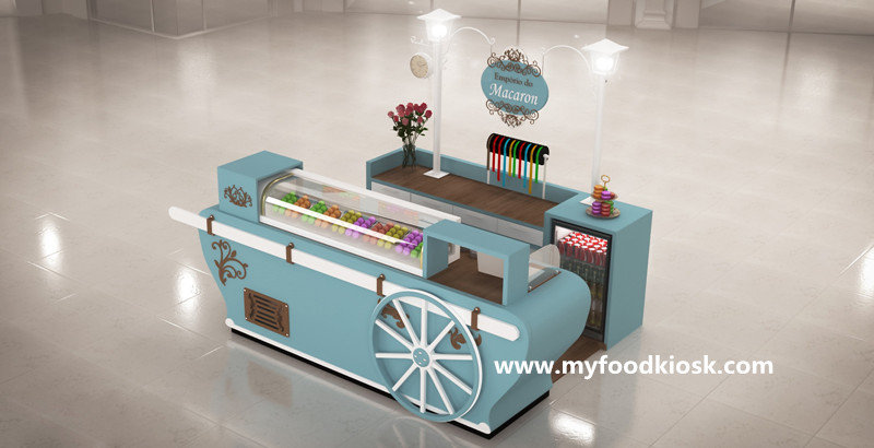 Rustic Crepe Food Shop Furniture Wooden Fast Food Interior