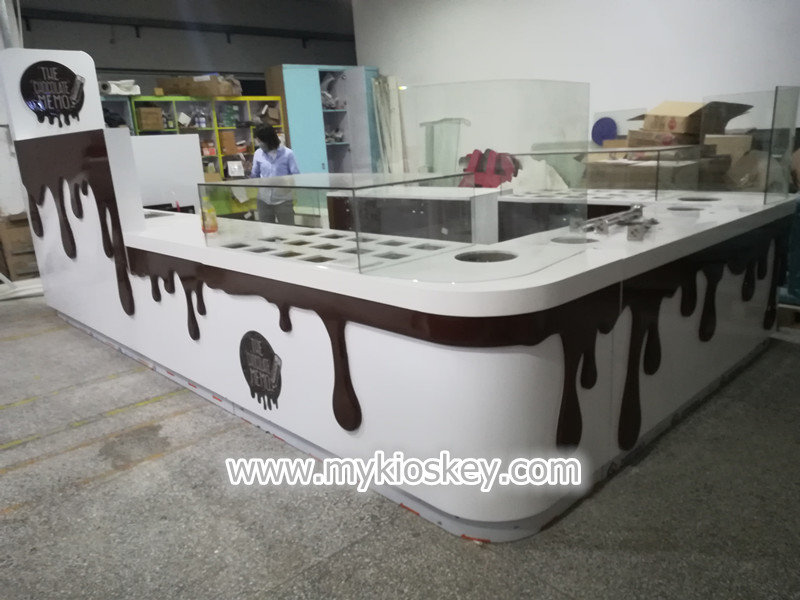 chocolate display kiosk