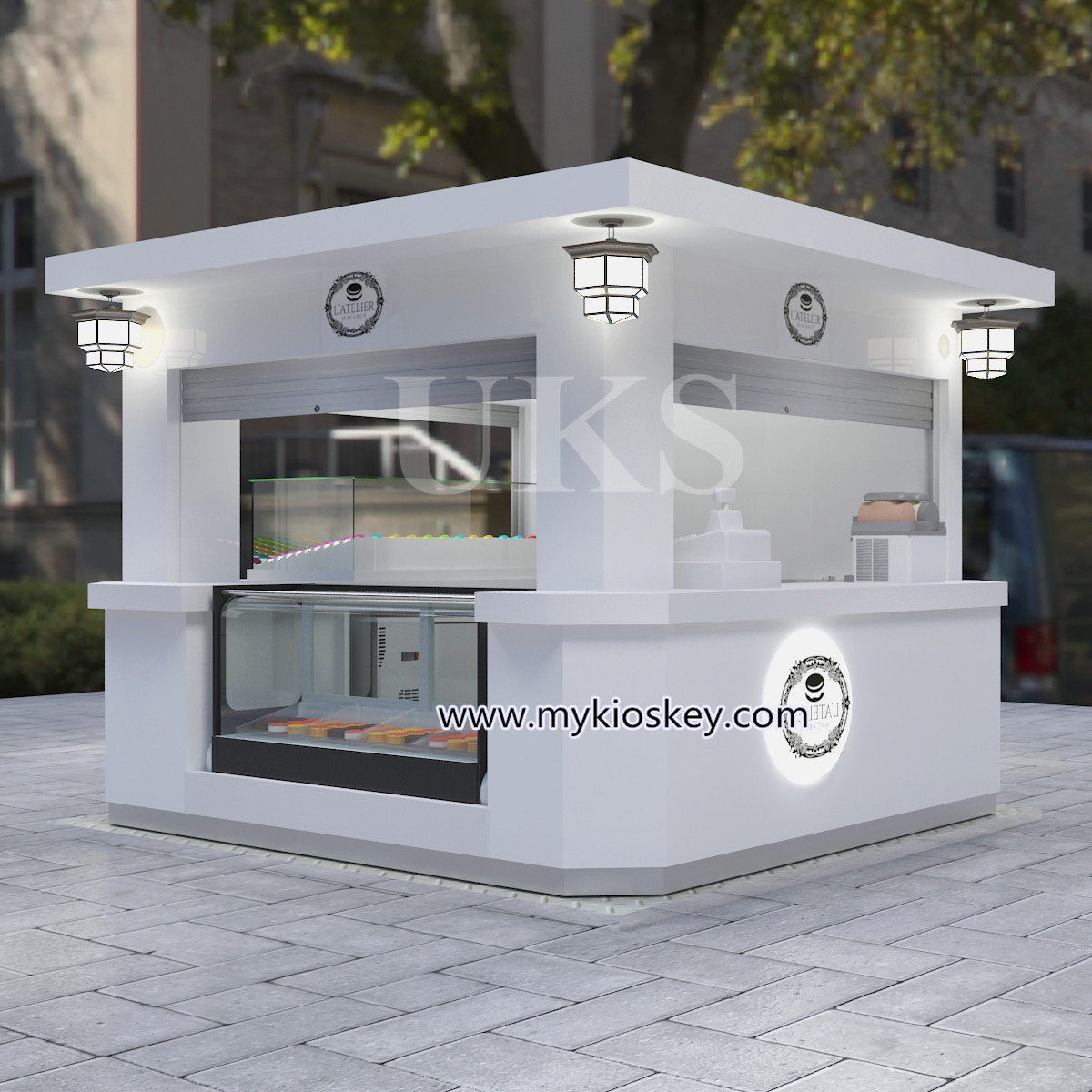 Home Design Ideas 3d: 10*10ft Elegant Macaron Outdoor Kiosk Design In Hot Sale
