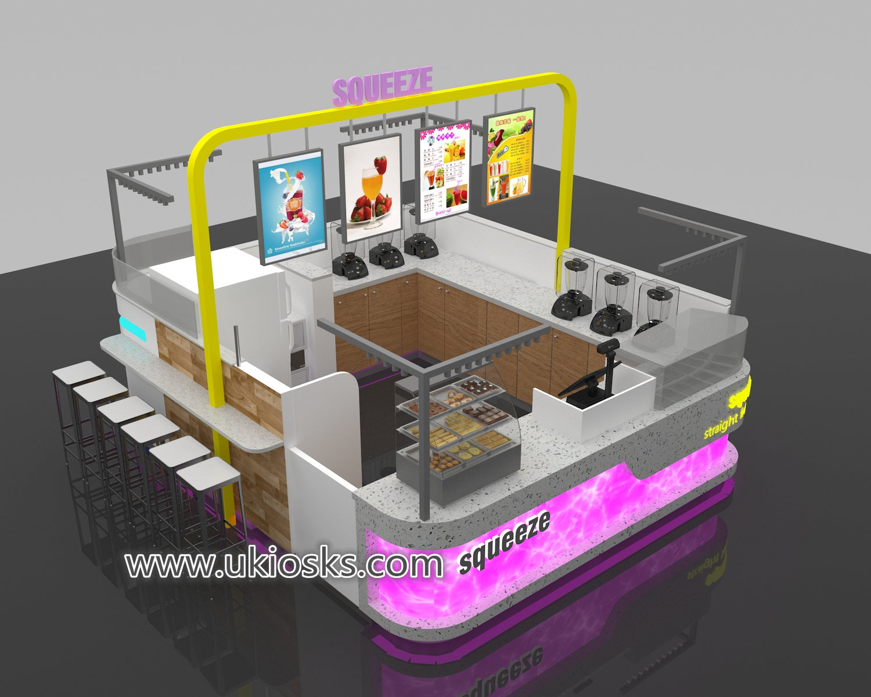 Wooden juice shop counter fresh juice bar counter design for Juice bar floor plan