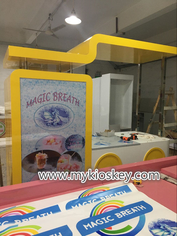 nitrogen ice cream cart