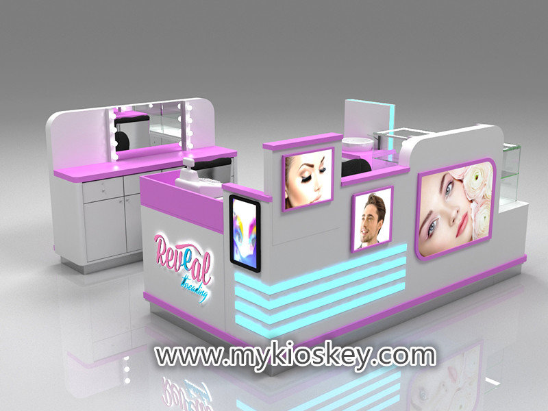 Canada 10*10ft mall eyebrow eyelash extension kiosk for ...