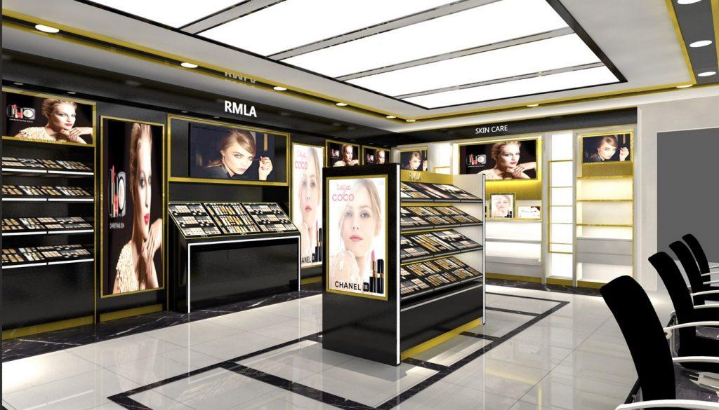 cosmetic shop fixture